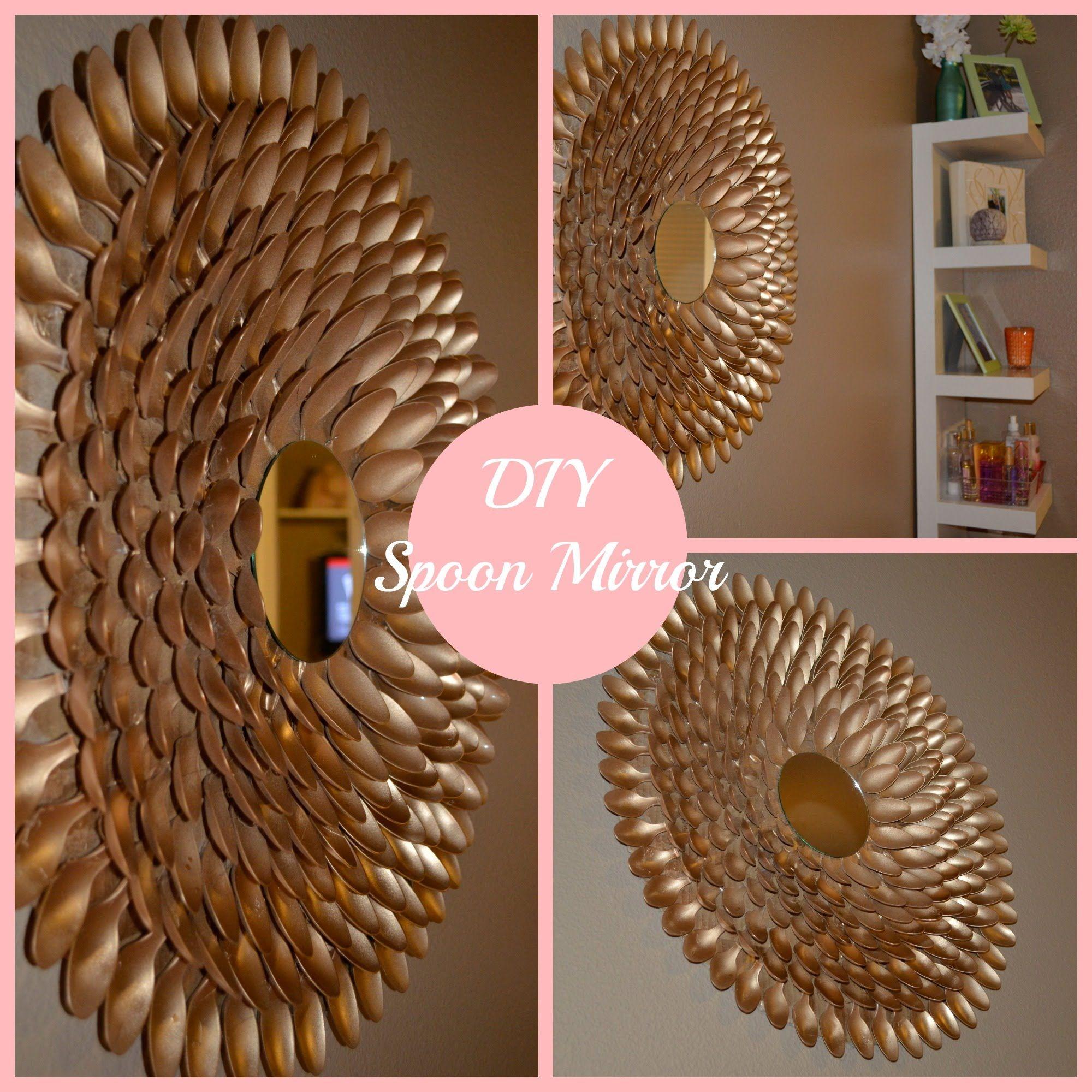 DIY Spoon Mirror Wall Decor