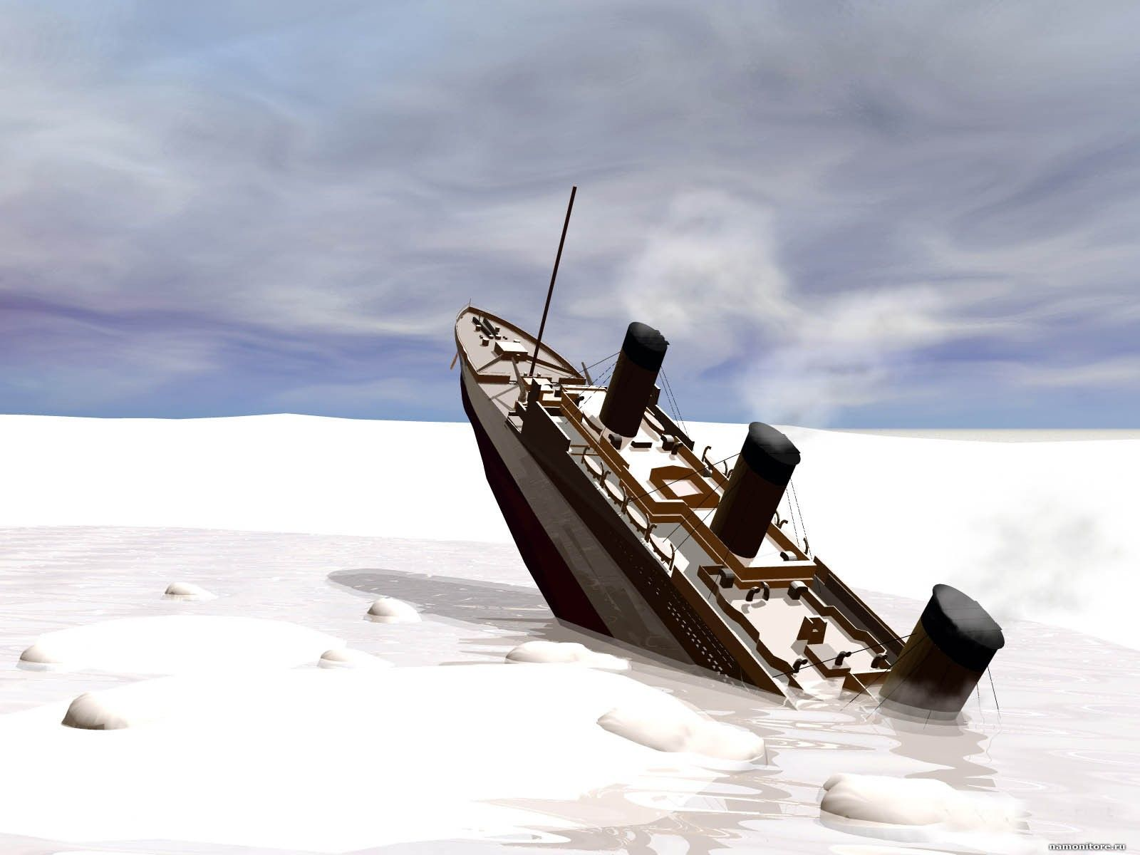 Ghost Pirate Ship Sinking