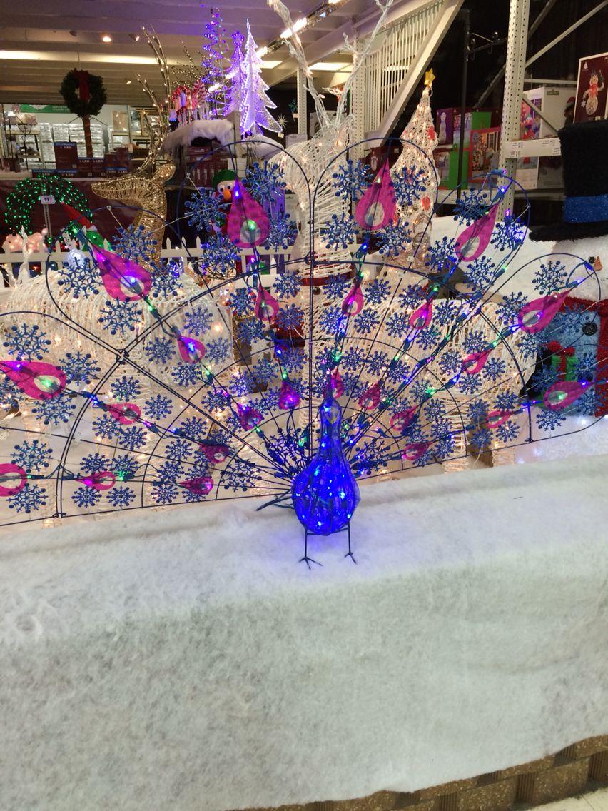 Outdoor light up peacock from Menards  Christmas  Pinterest
