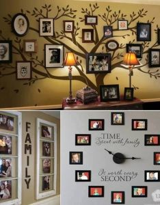 Ideas to place family pics also frame or not pinterest rh