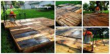 Minettesmaze Diy Pallet Deck Plans With