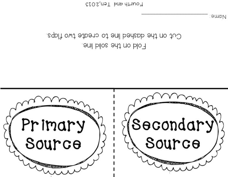 Fourth and Ten: Primary and Secondary Source Freebies