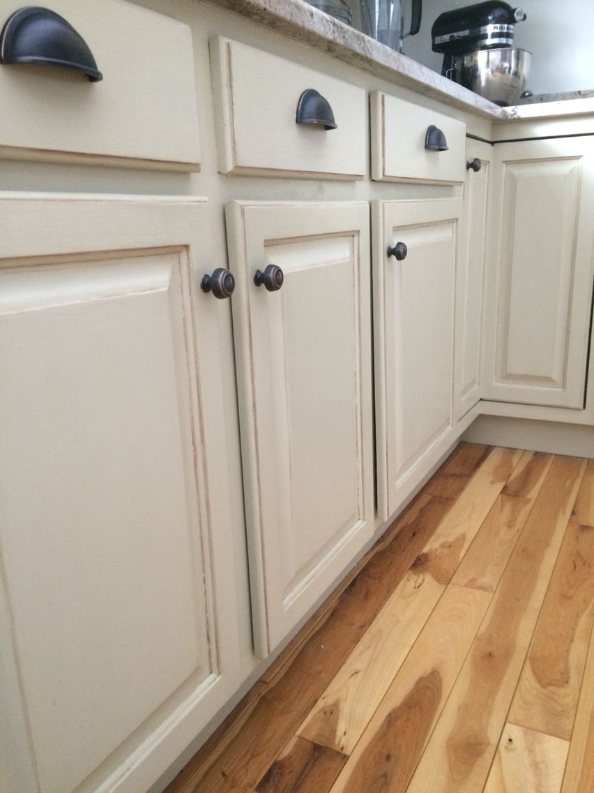 Annie Sloan chalk paint on kitchen cabinets Country grey
