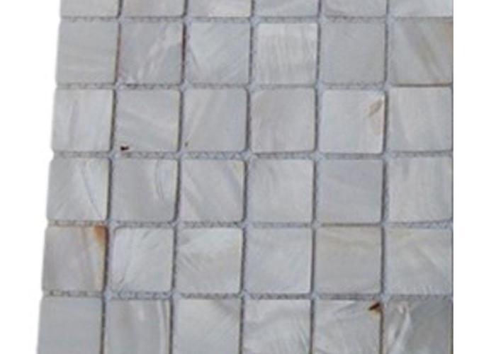 Splashback tile mother of pearl castel del monte white glass in also