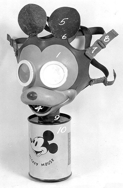 Wearing Mouse Mickey Mask Gas