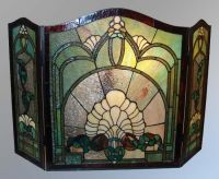 Tiffany style fireplace screen | Stained glass inspiration ...