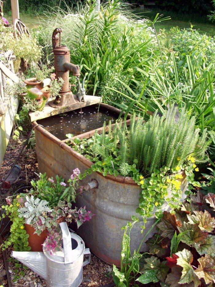 Deko Ideen Selbermachen Garten Pflanzen Alte Gegenstände