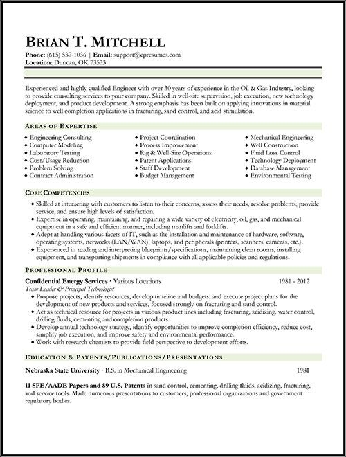 Oil & Gas Engineer Resume Sample Work Pinterest Resume