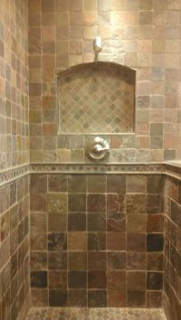 Shower Niche Designs | Travertine Shower with a Niche and ...