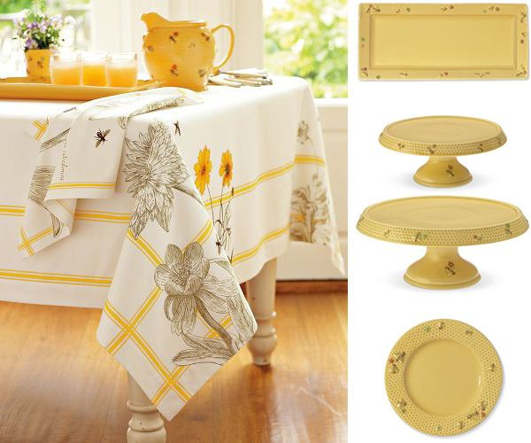 Honey Bee Tableware And Bee Tablecloth By Williams Sonoma Honey