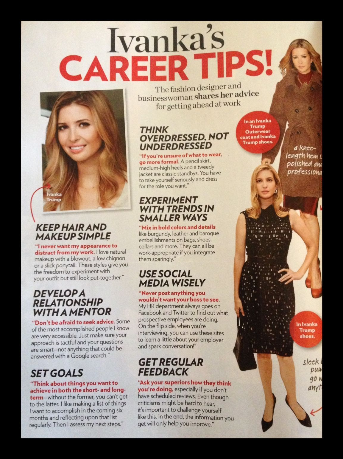 Ivanka Trump Resume Career Advice From Ivanka Career Woman Pinterest