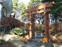 Japanese Arbor idea - Blue stone walkway with Japanese ...