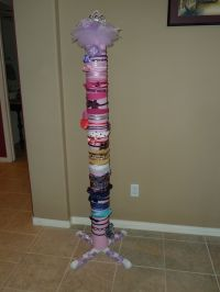 5' tall headband holder. Made from PVC covered with ...