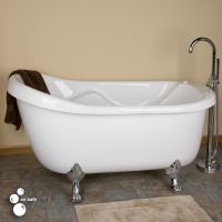"67"" Anelle Acrylic Slipper Clawfoot Whirlpool Tub 