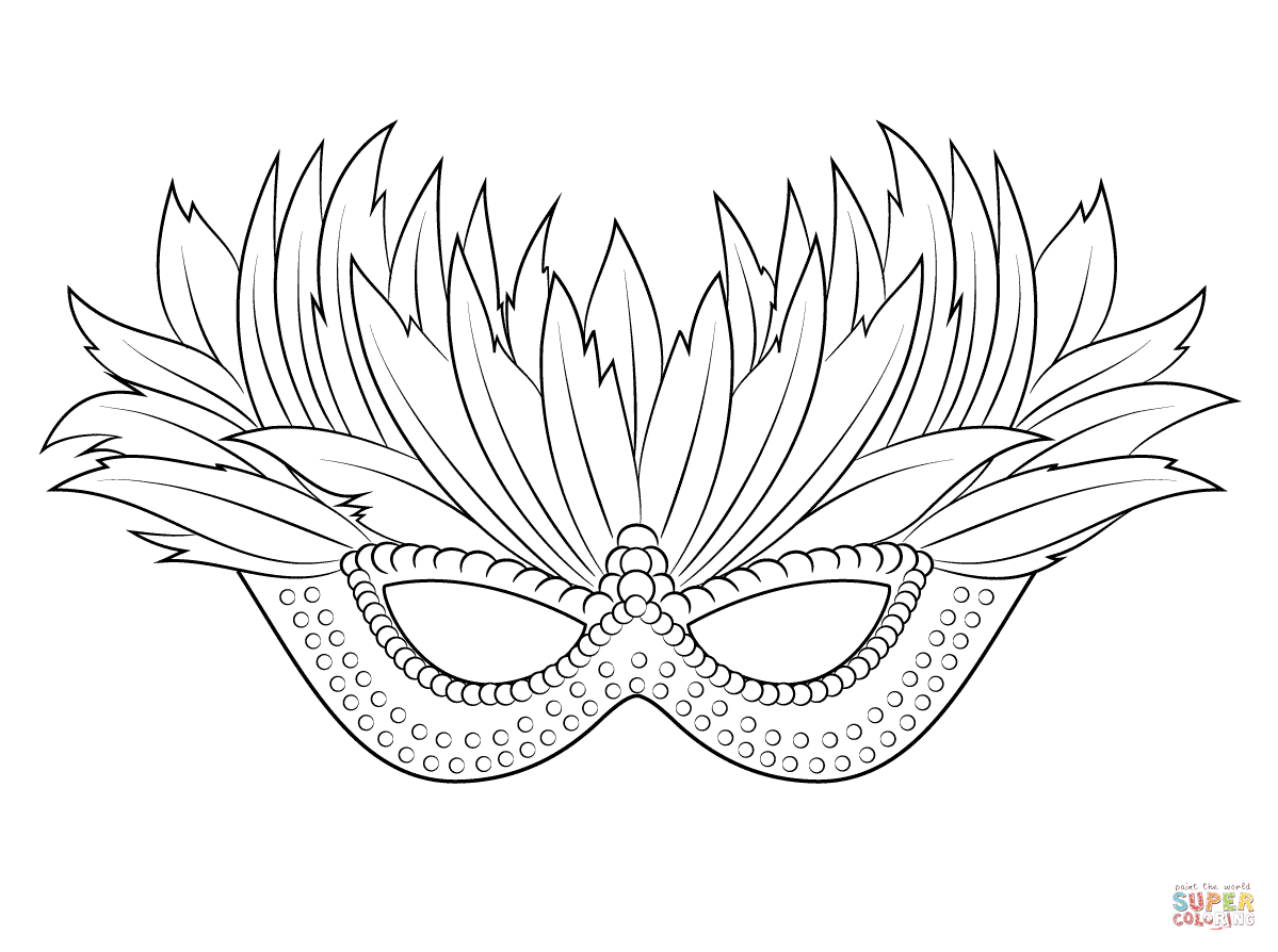 Coloring Pages Mardi Gras Masks