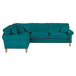 delta sofa debenhams carlisle slipcovered reviews flat weave fabric left hand facing corner
