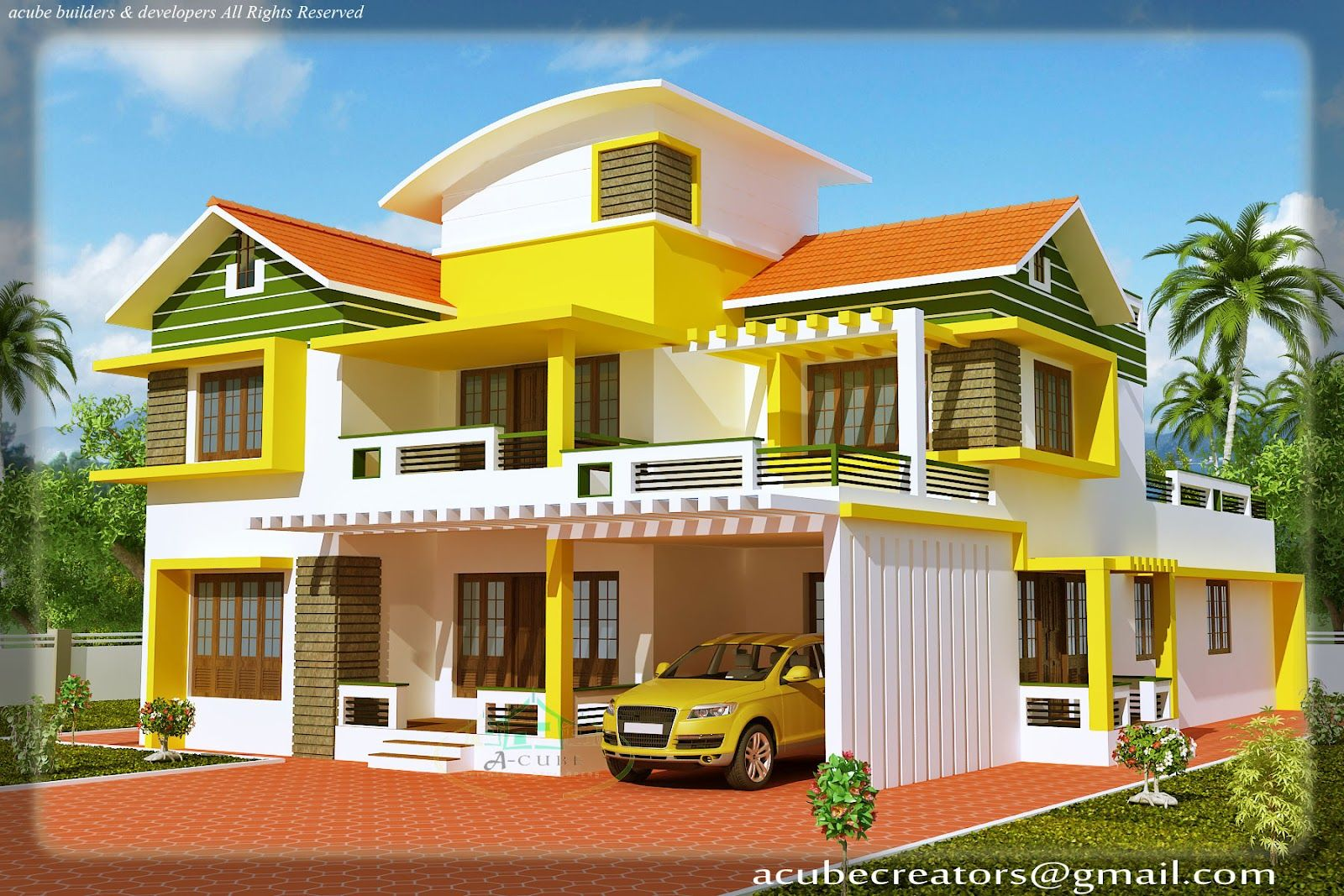 2100 Sqft Modern Mixed Roof Kerala Home Design Kerala House