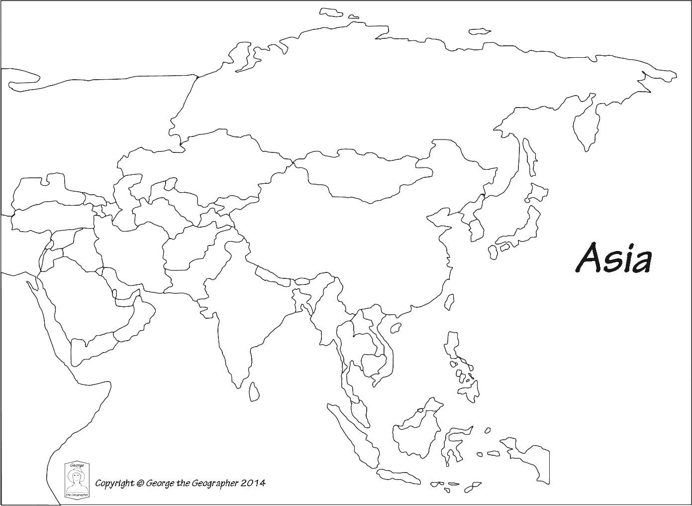 Outline Map Of Asia Political With Blank Outline Map Of Asia Political For Save