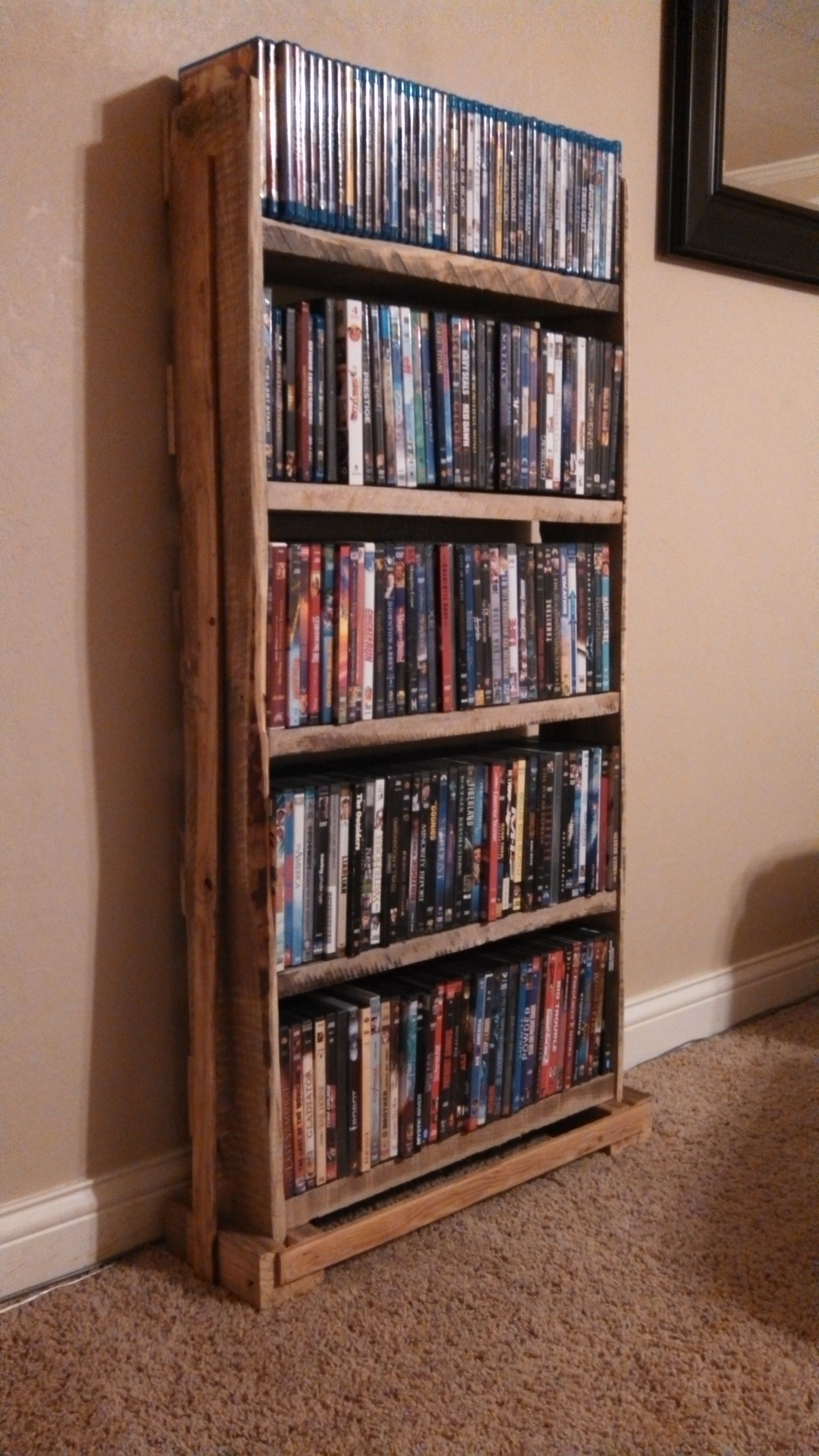 Pallet Wood DVD Rack