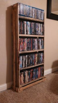 Pallet Wood DVD Rack | Pallet crafts | Pinterest | Dvd ...