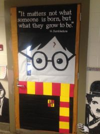 A fun classroom door as we being our Harry Potter read ...
