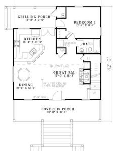 Open floor plan leave off stairs and this is great one also best house plans images on pinterest small cabin rh