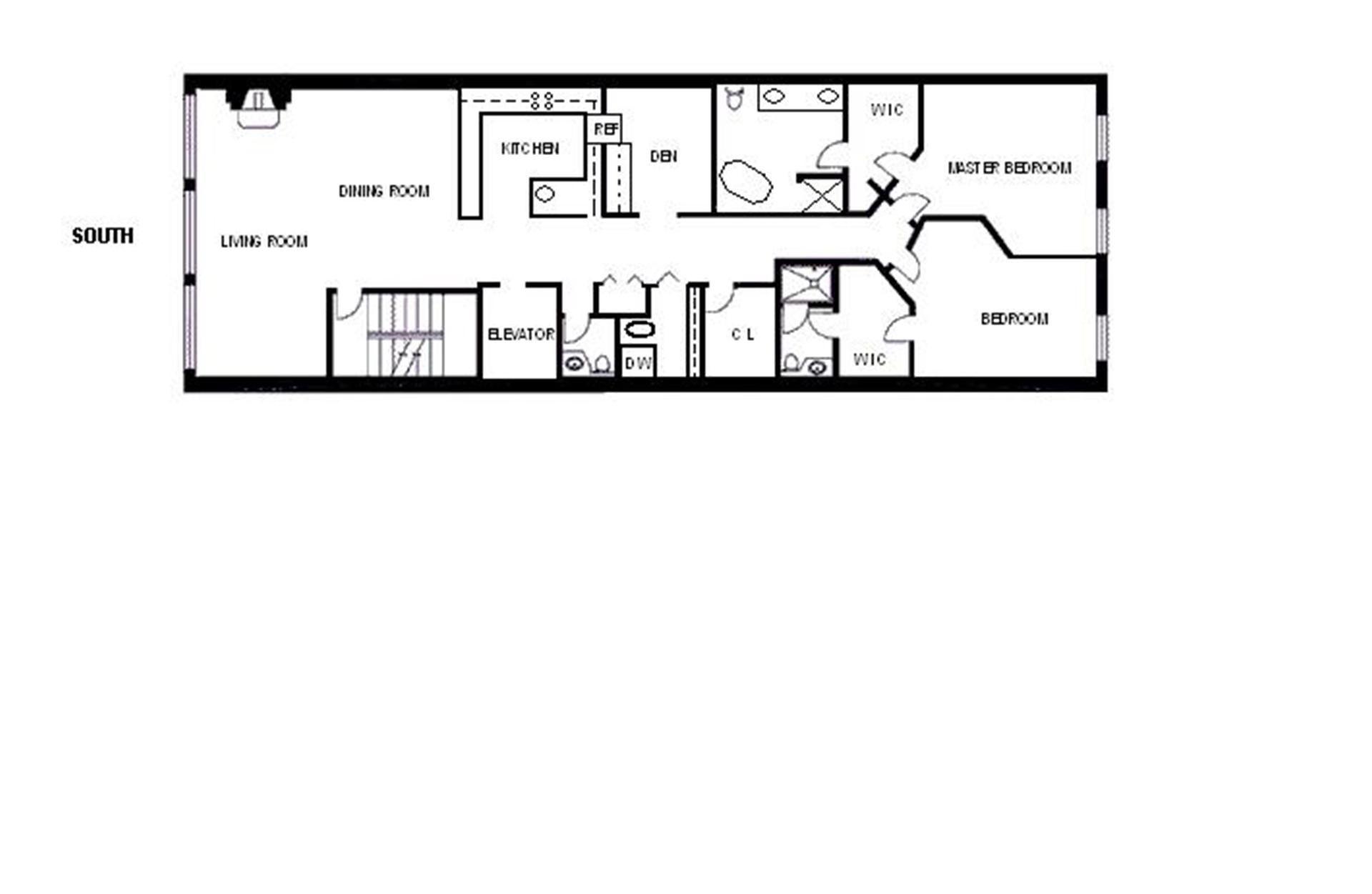 Long Kitchen Floor Plans