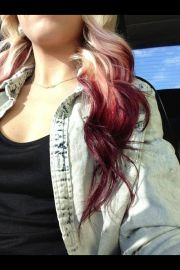 blonde maroon ombre hair