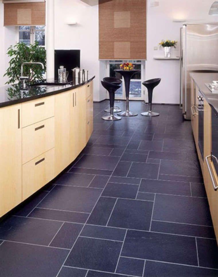 Contemporary Kitchen Vinyl Flooring
