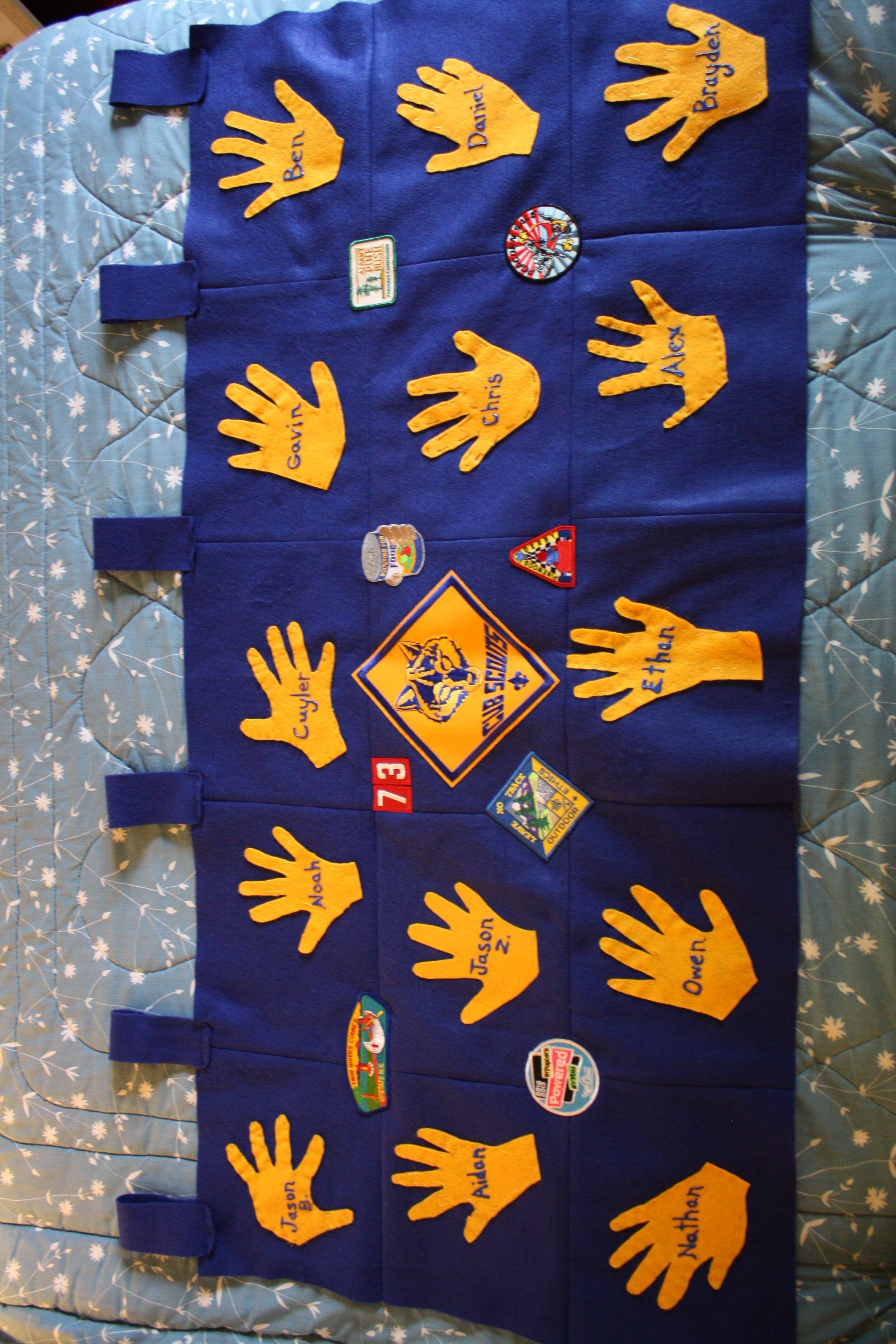 Cub Scout Hands Flag Nice Den Activity Cool