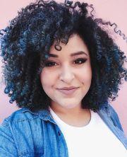 blue highlights curly hair 3b 3c
