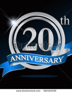th anniversary logo with blue ribbon years signs illustration silver also rh pinterest