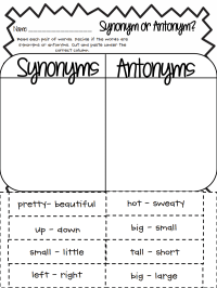 Synonym or Antonym.pdf - Google Drive | Fun School Stuff ...