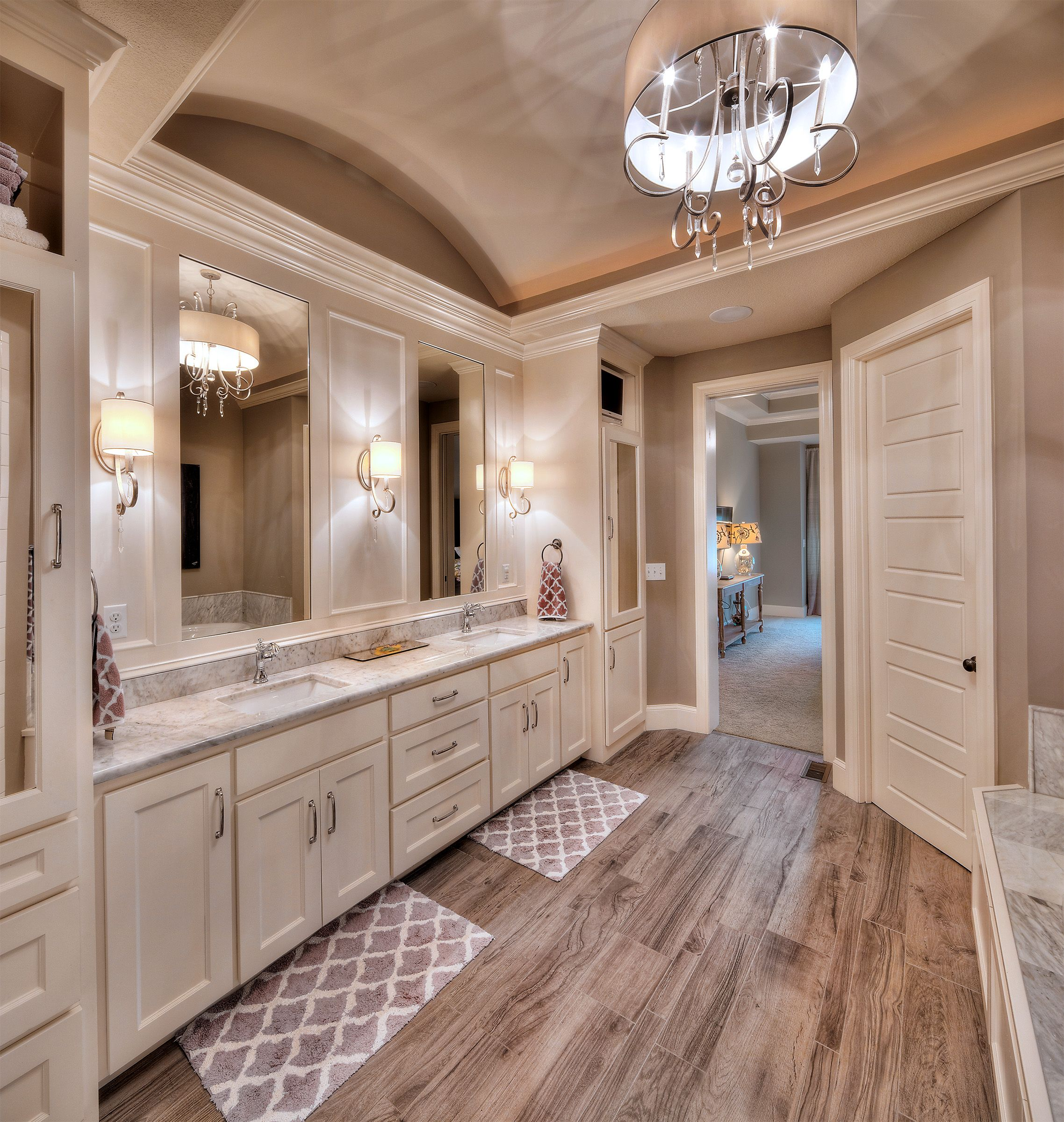 Master bathroom his and her sink  Home  Pinterest