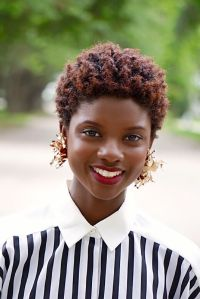 Vintage Stripes and Gold DIY | Tapered afro, Short natural ...