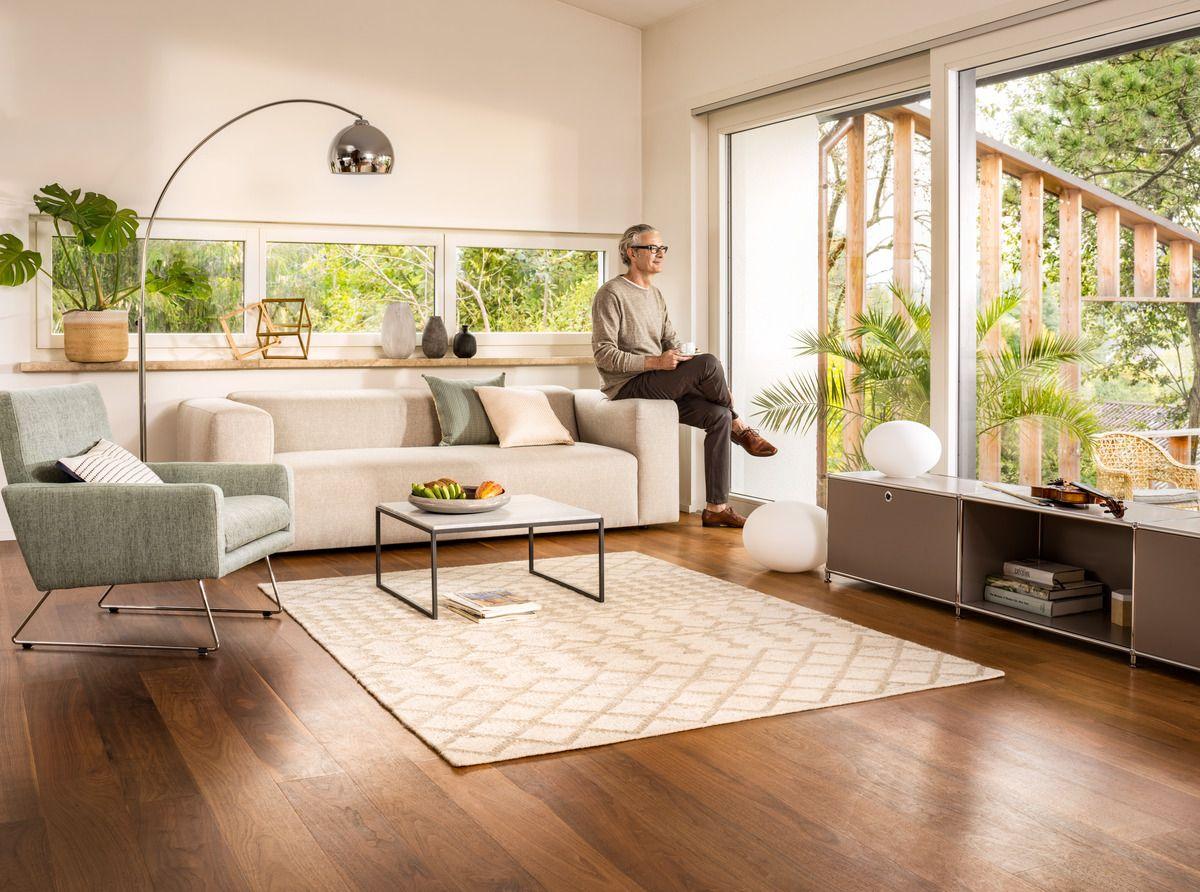 Micasa Wohnzimmer mit 3erSofa KNIG hellgrau auch in anderen Farben erhltlich Salontisch