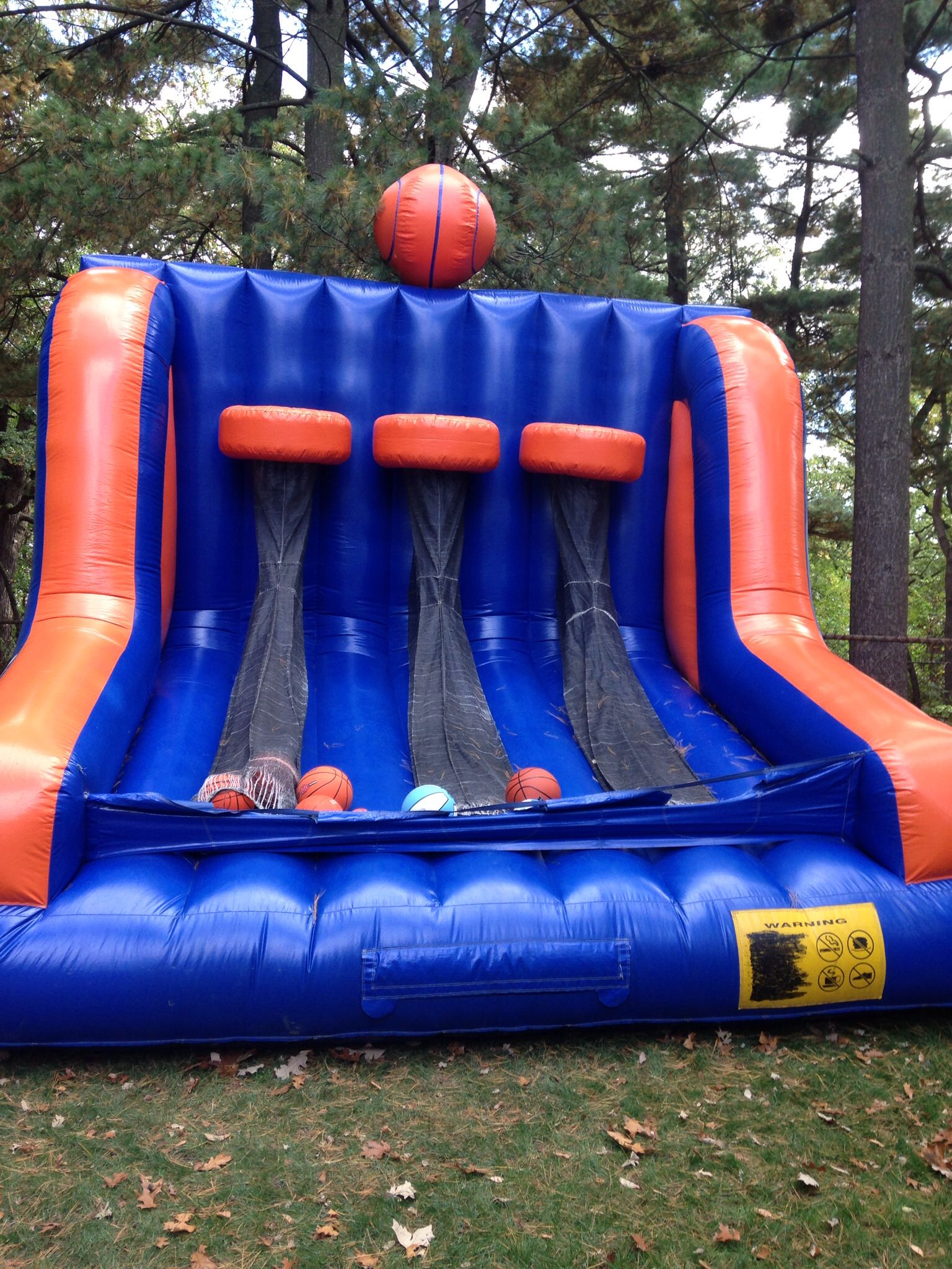 Triple Shot Basketball Bounce House Basketball Theme Birthday