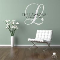 Family Monogram Wall Decal Vinyl Wall by ...