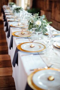 Handmade Rustic Barn Wedding | Wedding place settings ...