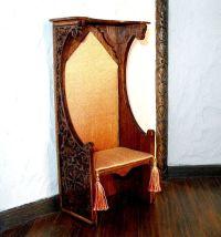 Gothic Chair, Medieval King Chair, Dollhouse Miniature 1 ...