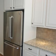 Apple Valley Kitchen Cabinets Outdoor Designs Plans Refrigerator Enclosure To Give Built In Look With Glazed ...