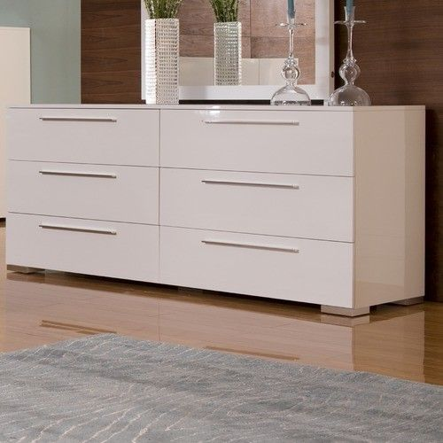 Modern White Dresser Furniture Bedroom Designs With Six Drawer