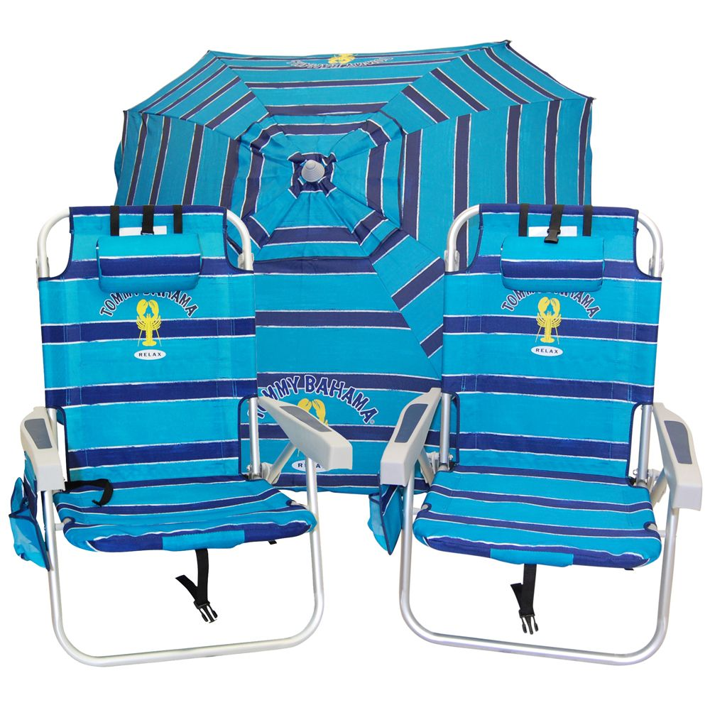 Get a Beach Chair with Umbrella Attached - Really Cool Way to Keep The Sun Off Your Head