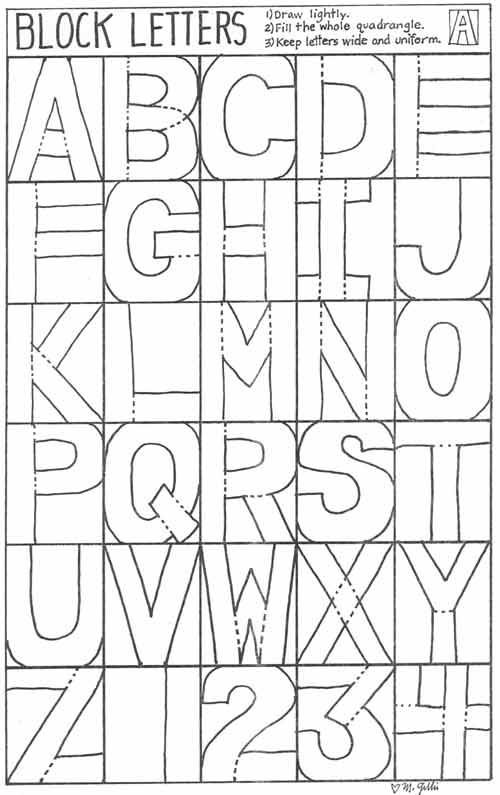 Block Letters: Art Lessons, Plan, Student, Alphabet