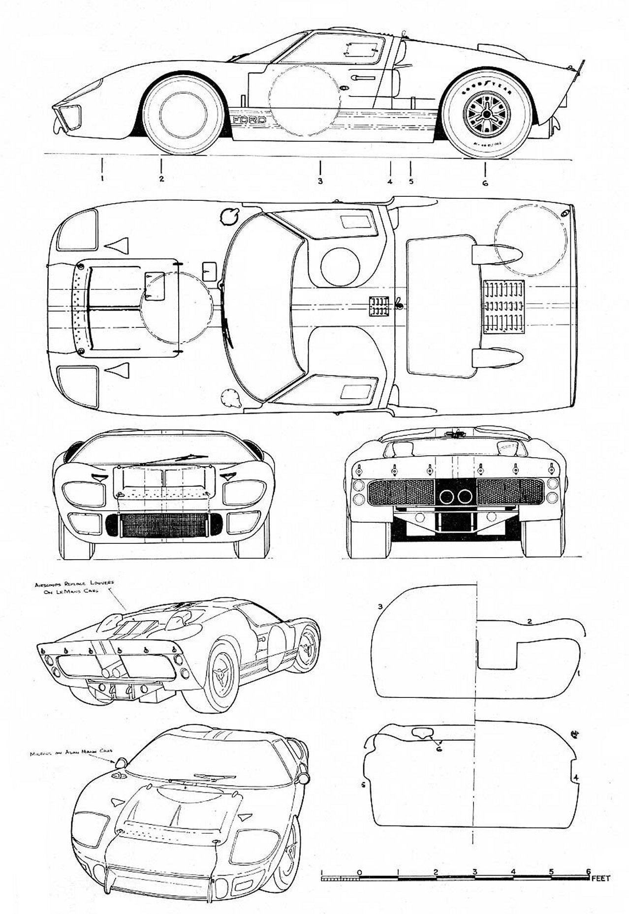 Tutoriales3d Blueprints Ford Gt40 Mk Ii