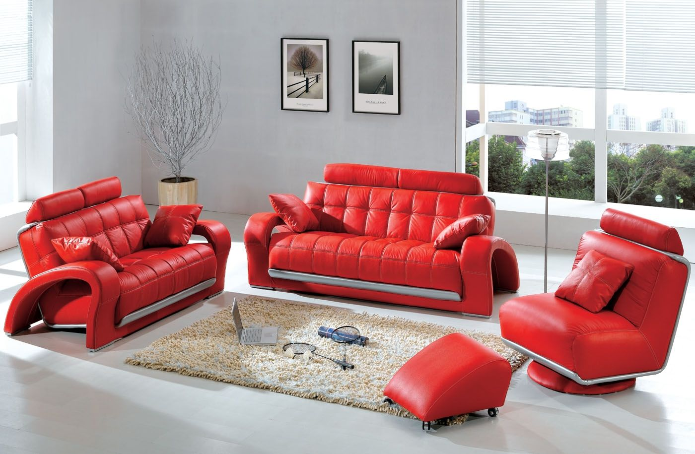 Modern & Contemporary Leather Sofa & Sectional Sets