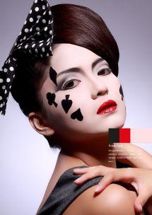 Poker Face #makeup #conceptual #beauty Conceptual Make