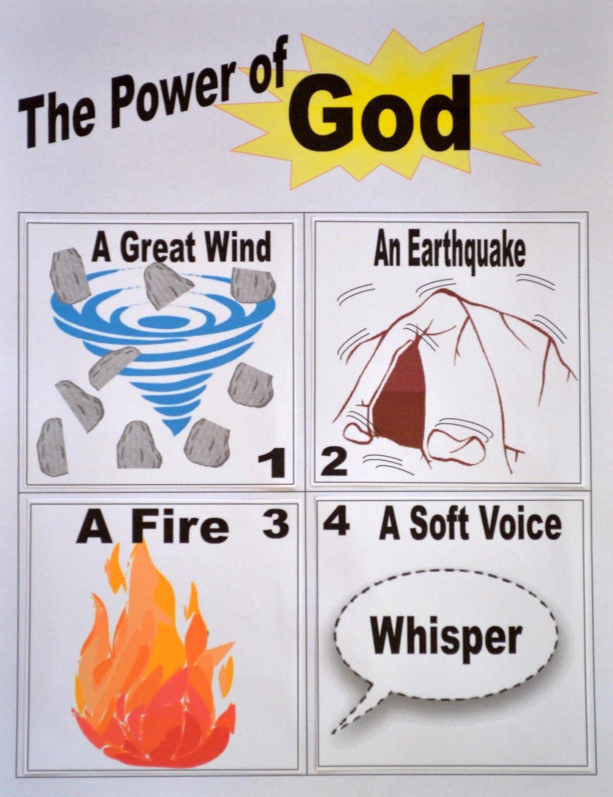 Power Of God Worksheet Printable Wind Earthquake Fire