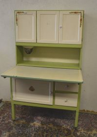 Antique 1920's Hoosier Cabinet with Flour Sifter Porcelain ...