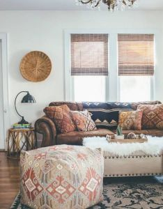boho rooms with too many prints in  good way also room and rh pinterest